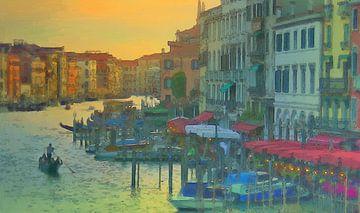 Italien - Romantisch Essen gehen in Venedig von Dirk van der Ven