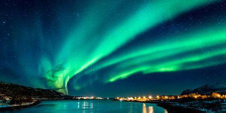 Nordlicht Panorama (Nordnorwegen)