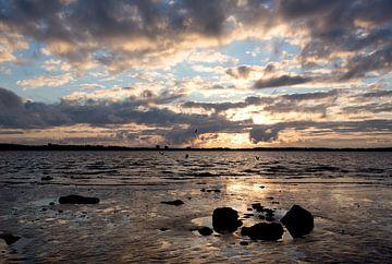 Sonnenuntergang an der Ostsee von Angelika Stern