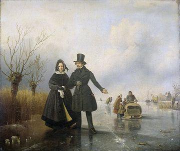 Porträt von Herrn und Frau Thijssen auf Eis, Jacobus Sörensen