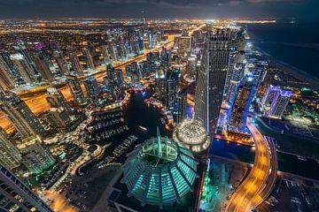 Jachthaven van Dubai van bovenaf van Stefan Schäfer