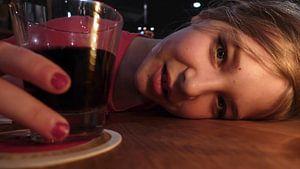 Rode nacht met drank en meisje