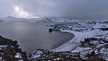 Winterstrand bij Kleifarvatn van Timon Schneider