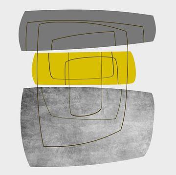 Abstracte samenstelling 909 van Angel Estevez