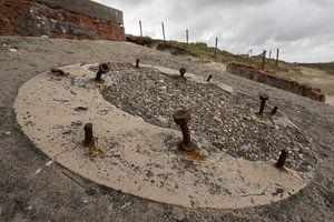 Oude Duitse bunker op het eiland Terschelling