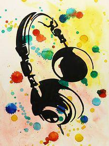 Spetterende hoofdtelefoon