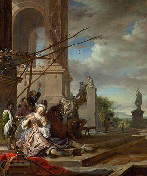 Een Italiaanse binnenplaats, Jan Weenix