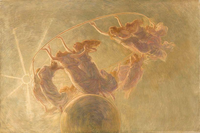 Der Tanz der Stunden, Gaetano Previati von Meesterlijcke Meesters