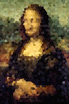 Mona Lisa Abstrakt Pixel Digital Kunst von Art By Dominic