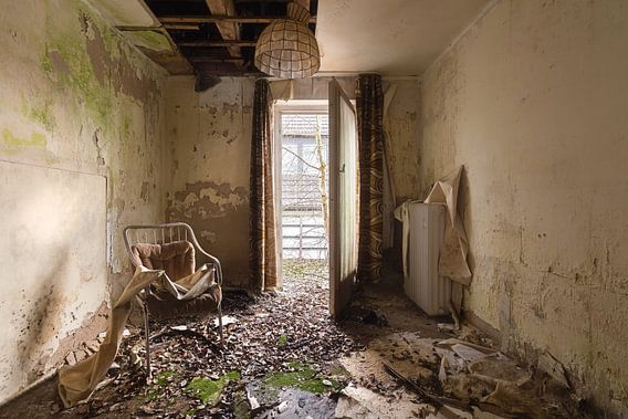 Verlaten Hotel Kamer.