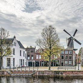 Vismarkt Schiedam van Frans Blok