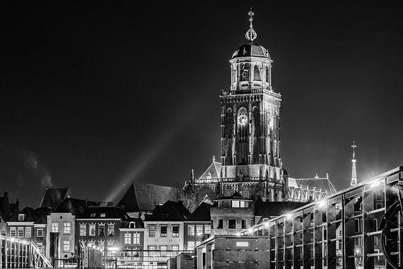 Lebuinus Kerk Deventer z/w.