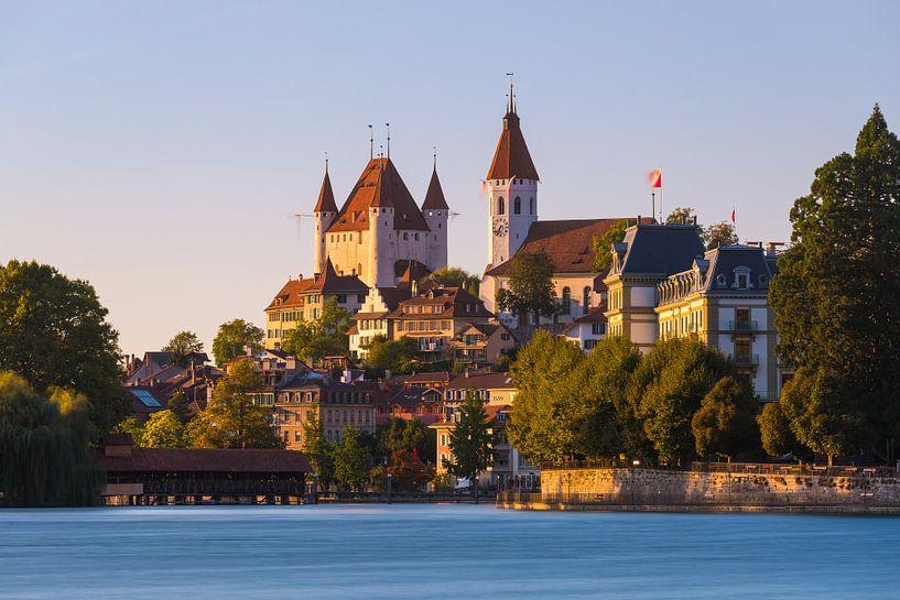 Thun Castle, Zwitserland van Henk Meijer Photography