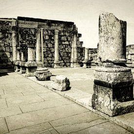 Die Weiße Synagoge aus dem 4. Jahrhundert, Kafarnaum, Israel, Naher Osten von Mieneke Andeweg-van Rijn
