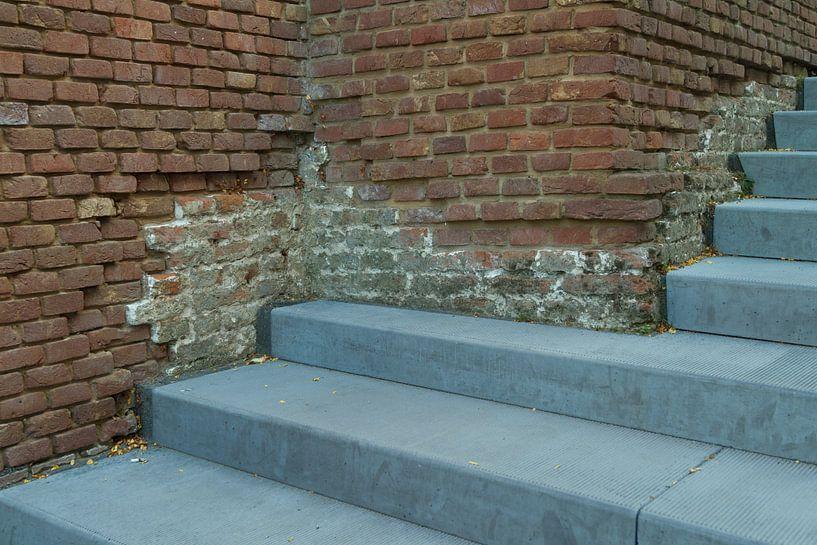 Gerestaureerde trap Bastion Bolwerk van Rob van Eerd