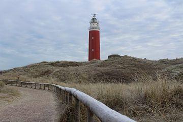 De vuurtoren van Texel van Kevin Ruhe