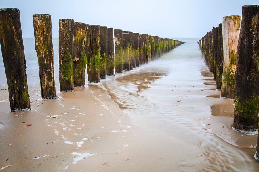 Paalhoofden strand Zoutelande van Teuni's Dreams of Reality