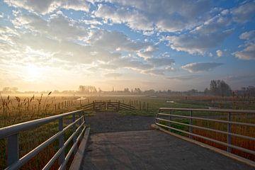 Zonsopkomst Oudorp polder van Jaap Spaans