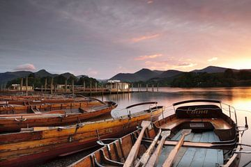 Derwent Water bei Sonnenuntergang, Lake District, von Markus Lange