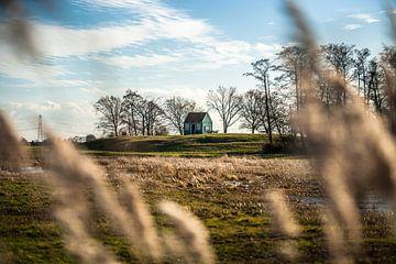 Ansicht des traditionellen hölzernen Häuschens auf Schokland von Fotografiecor .nl