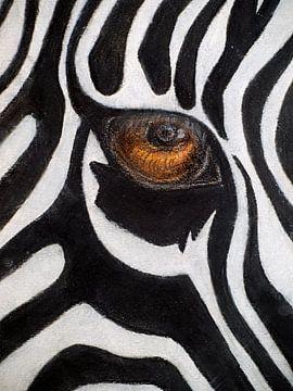 Sanftes Zeichen des Zebras. von Ineke de Rijk