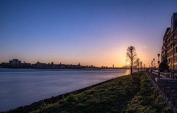 Mystieke zonsondergang Papendrecht van Remon Evenhuis