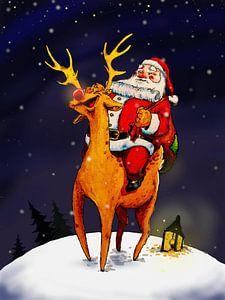 De Kerstman met Rudolph
