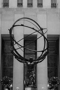 Atlas Statue im Rockefeller Center, NYC von Christine aka stine1