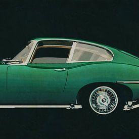 Jaguar E-Type 1960 vue de côté sur Jan Keteleer
