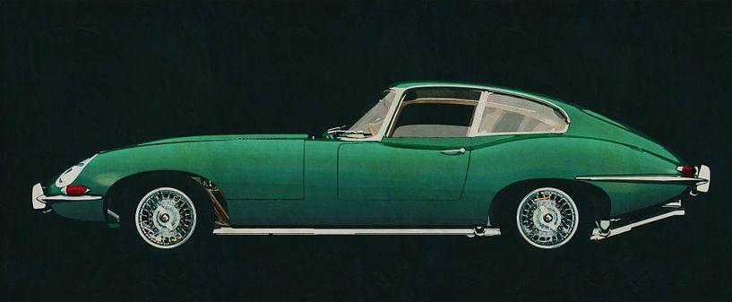 Jaguar E-Type 1960 zijaanzicht van Jan Keteleer