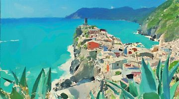 Cinque Terre - Vernazza - Schilderij