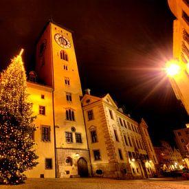 Weihnachtliches Rathaus Regensburg von Roith Fotografie