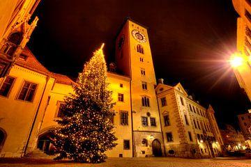 Kerstmis Stadhuis Regensburg van Roith Fotografie
