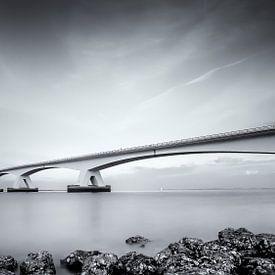 Zeeland Bridge / Black and white von Ralf Linckens