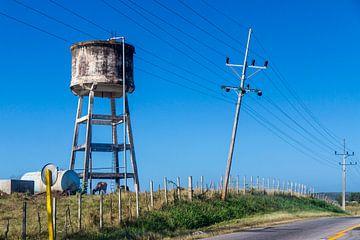 Watertoren in Cuba sur Rob Altena