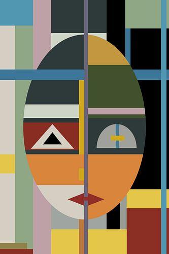 Face modern Art sur Marion Tenbergen
