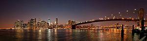 Manhattan skyline en de Brooklyn Bridge van