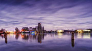 Nuages sur Deventer et le Havenkwartier en début de soirée. sur Bart Ros