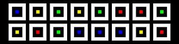 Nested | Center | 08x02 | N=02 | Random #03 | RGBY van Gerhard Haberern
