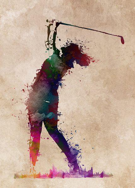 Golfspieler 3 Sport #Golf #Sport von JBJart Justyna Jaszke