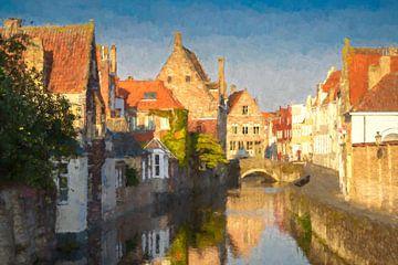Historisch centrum Brugge, België van Rietje Bulthuis