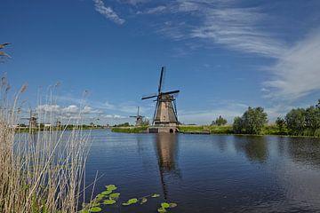 Historische Nederlandse windmolens op de polders in Kinderdijk, Zuid-Holland, Nederland, UNESCO-were van Tjeerd Kruse