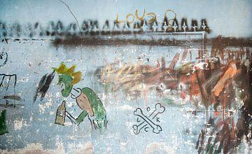 muur schildering sur Dray van Beeck
