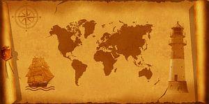 Carte du monde nostalgique