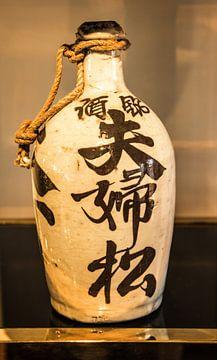 Antike japanische Sake-Flasche