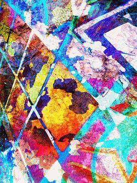 Modern, Abstract Digitaal Kunstwerk - When The Answers Escape Us (Rechts) van Art By Dominic
