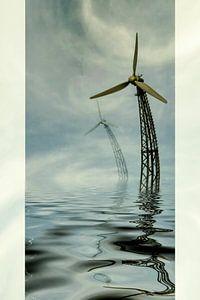 Windkraft im Meer von Christine Nöhmeier