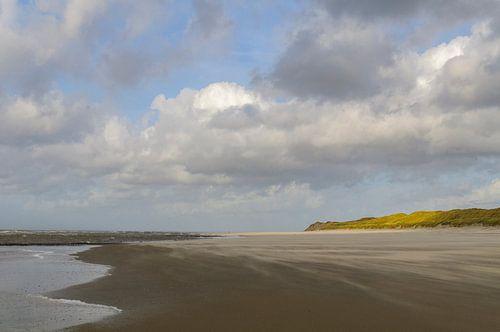 Strand van het Waddeneiland Vlieland