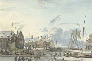 Wintergezicht te Harlingen, Nicolaas Baur