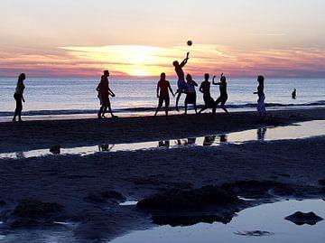 Freude am Sport im Sonnenuntergang von Bob Bleeker